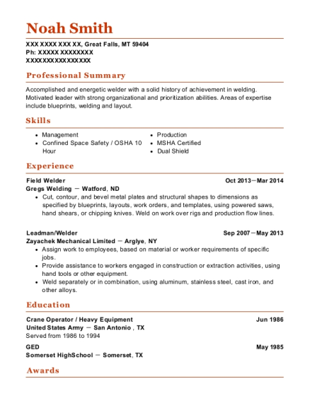 ring energy field welder resume sample kermit texas resumehelp