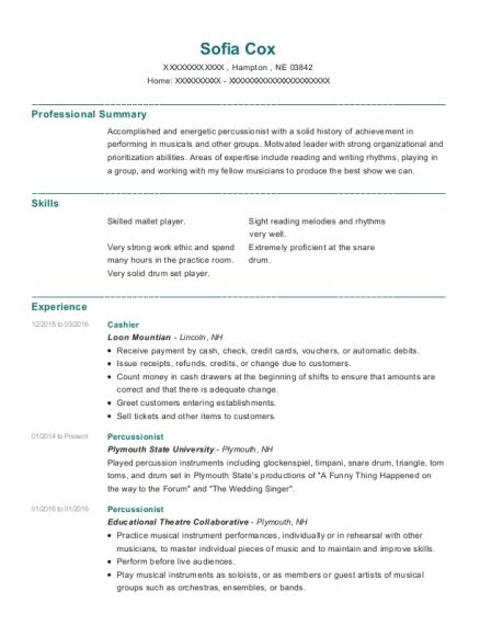 Best Percussionist Resumes | ResumeHelp
