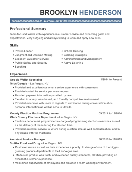 Best Assistant Produce Manager Resumes Resumehelp
