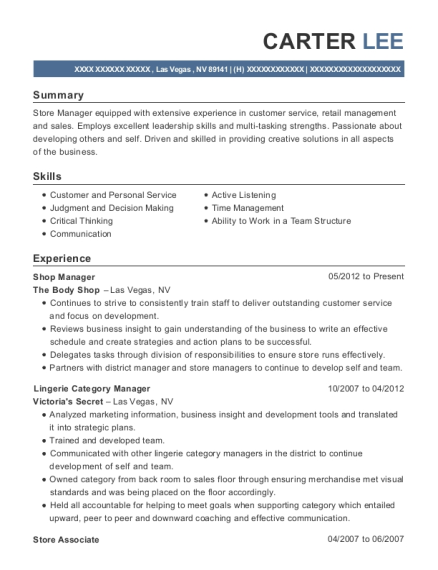 category manager resume