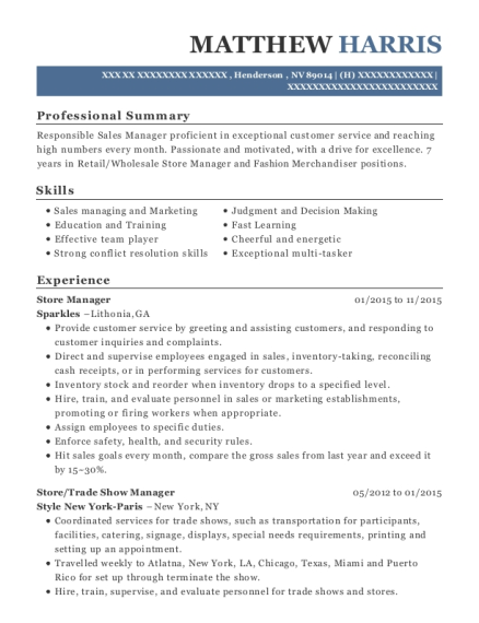 best trade show manager resumes