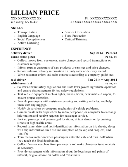 taxi driver resumes