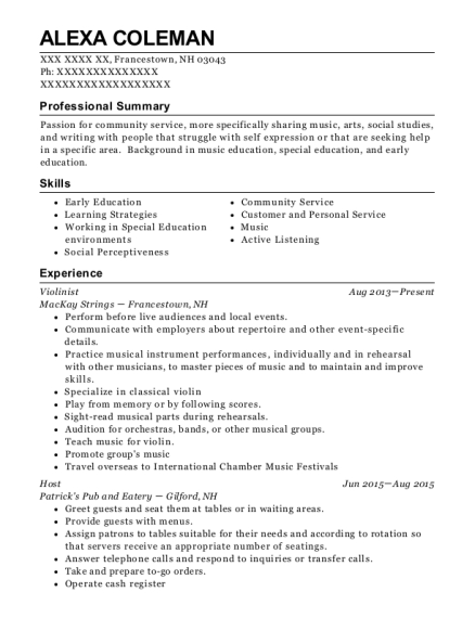 best violinist resumes resumehelp