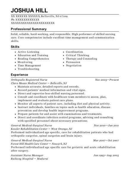 best assistant nurse manager resumes resumehelp