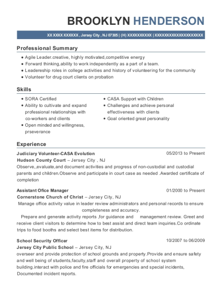 New York City Department Of Corrections Correction Officer Resume ...