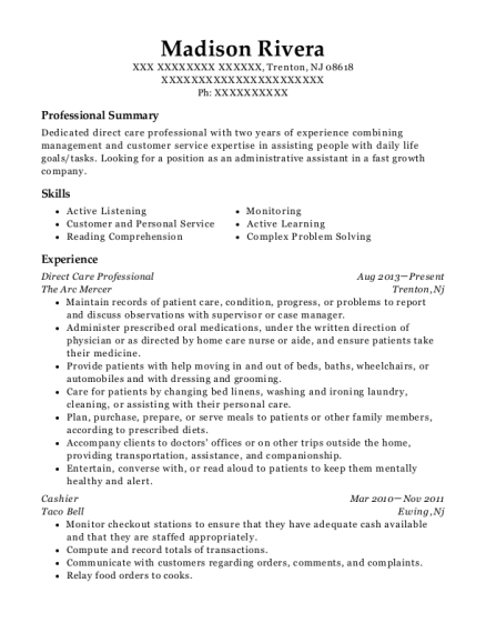 Best Direct Care Professional Resumes
