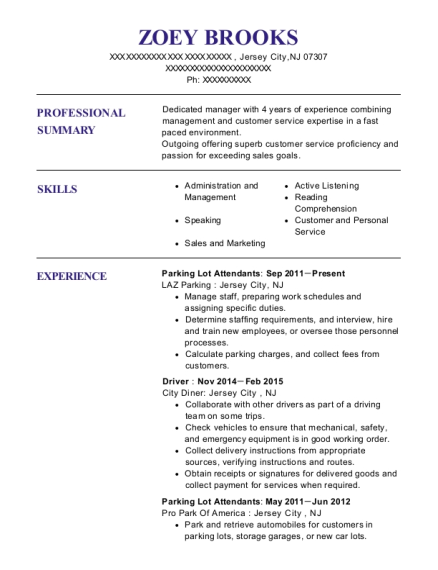 View Resume. Parking Lot Attendants