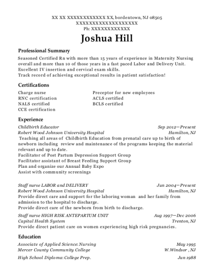Best Childbirth Educator Resumes | ResumeHelp