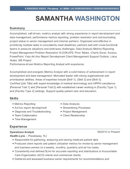 Cognizant Technology Solutions Project Lead Resume Sample - Carmel ...