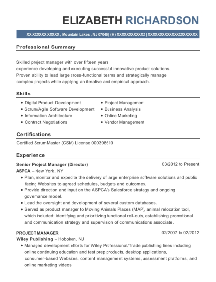 cardno atc senior project manager resume sample