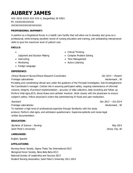 best clinical research coordinator resumes  resumehelp