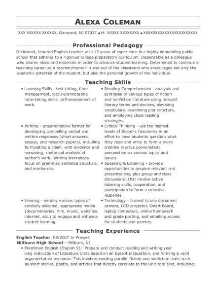 best language arts and reading teacher resumes resumehelp