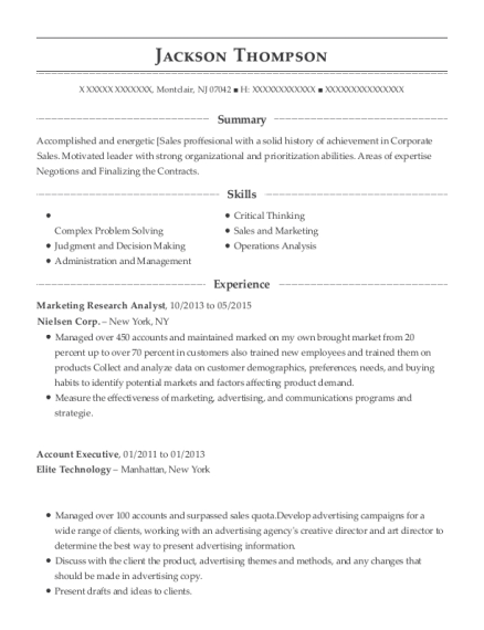 Best Market Research Analyst Resumes