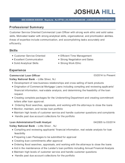 ... Commercial Loan Officer. Customize Resume · View Resume