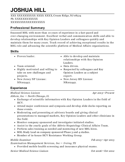 best medical science liaison resumes