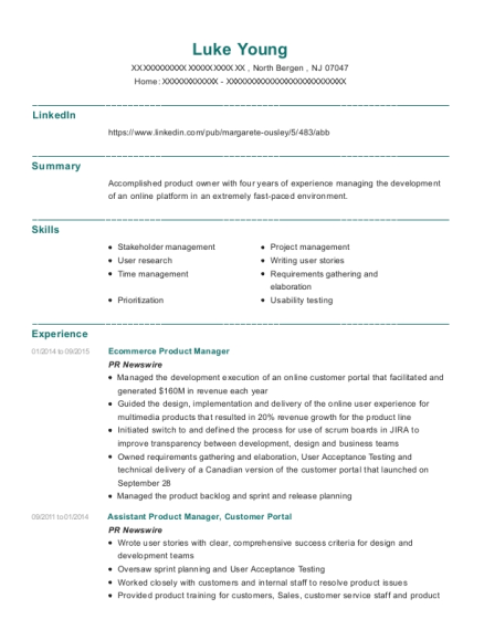 View Resume  Product Manager Resume Samples