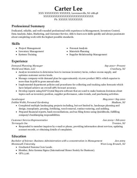 Best Demand Planning Manager Resumes Resumehelp