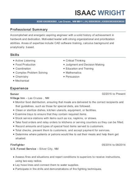 isaac wright - Sandwich Maker Resume