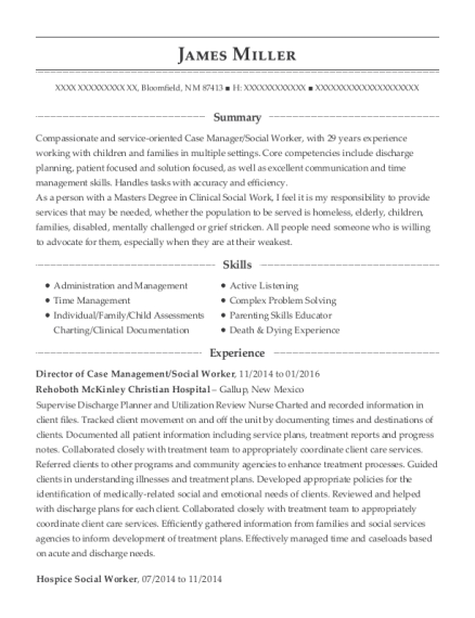 View Resume. Director Of Case Management/Social Worker