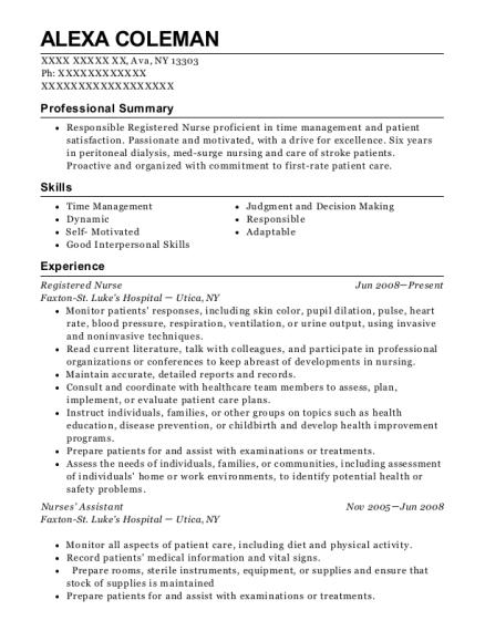 Alexa Coleman  Shift Supervisor Resume