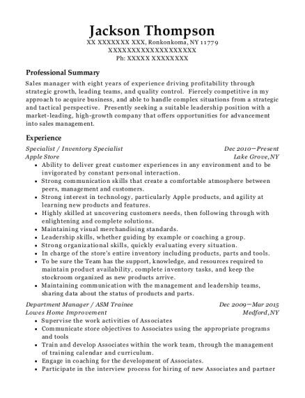 best assisted housing specialist resumes