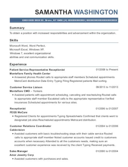 Best Patient Service Representative Resumes Resumehelp - Patient-service-representative-resume