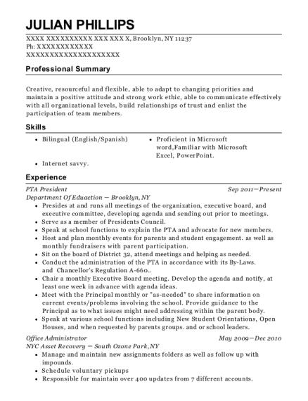 Pta resume