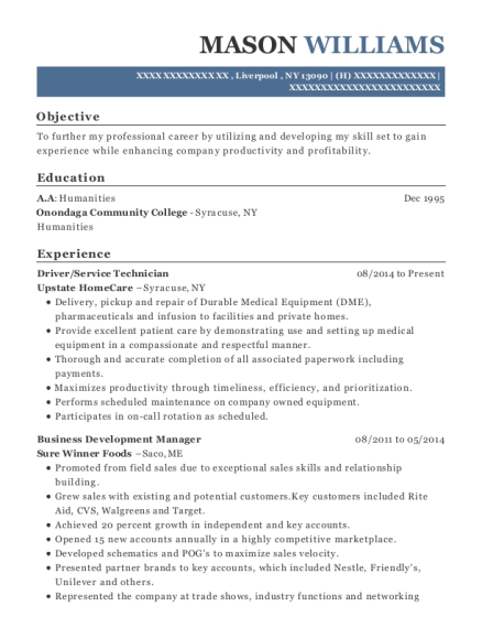 Monster Energy Field Sales Representative Resume Sample - Gilbert ...