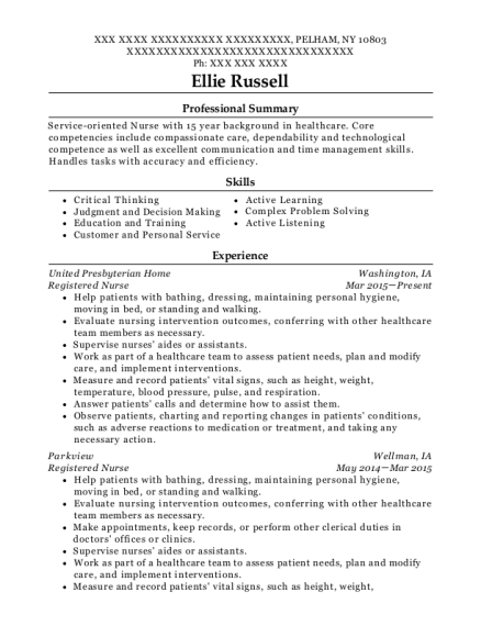 ellie russell - Clinical Instructor Resume