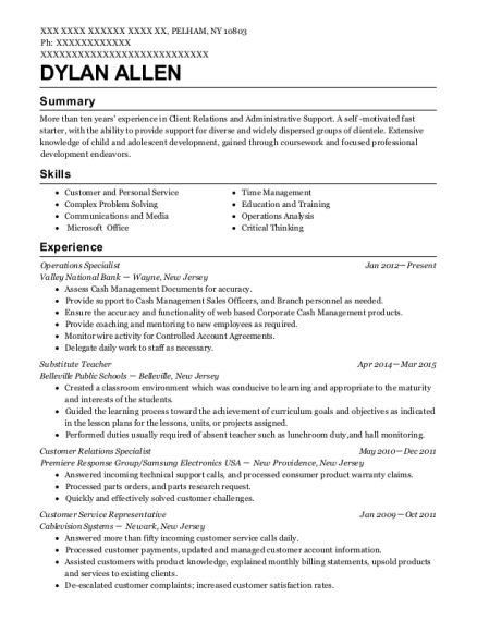 ... Customer Relations Specialist. Customize Resume · View Resume