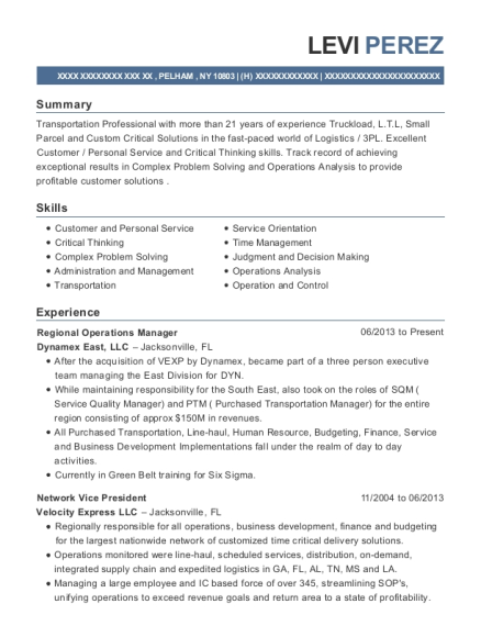 Best Freight Operations Supervisor Resumes | ResumeHelp