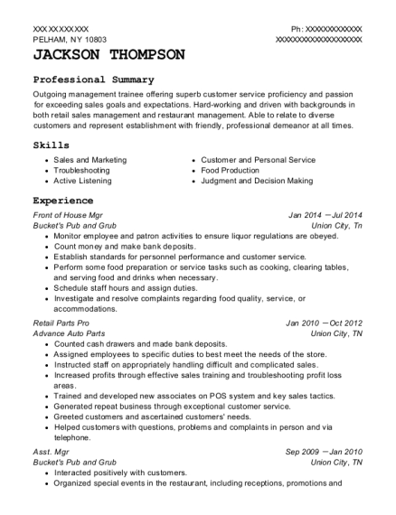 Phone Operator , Retail Parts Pro. Customize Resume · View Resume