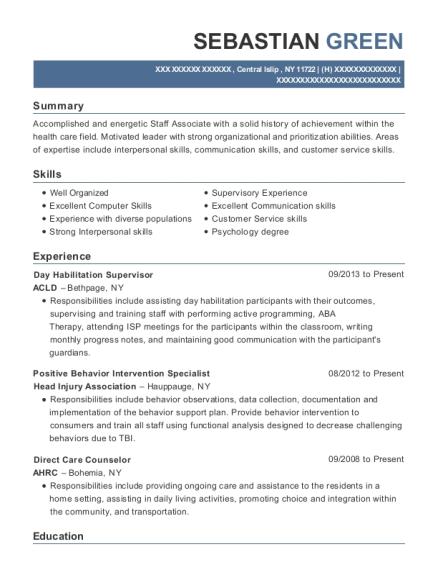 ... Positive Behavior Intervention Specialist. Customize Resume · View  Resume