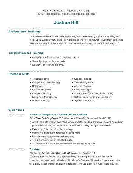 Best Head Of Computer And Cellular Technician Resumes | ResumeHelp