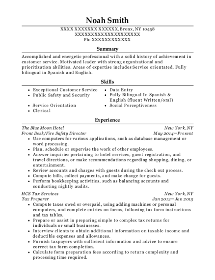 Tishman Speyer Properties Fire Safety Director Resume Sample ...