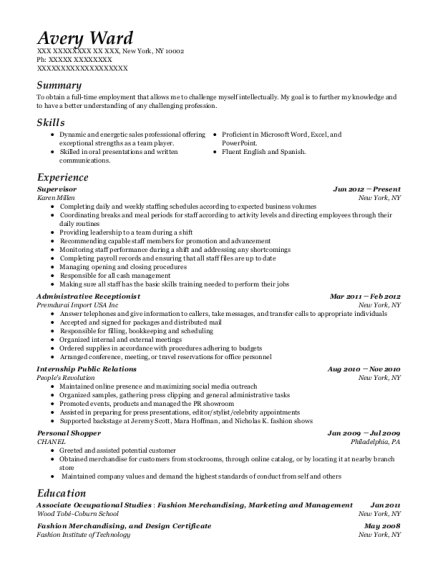 instacart personal shopper resume sample