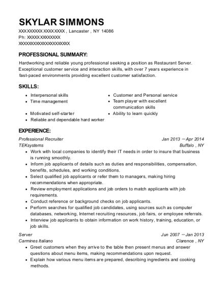 Best Professional Recruiter Resumes Resumehelp