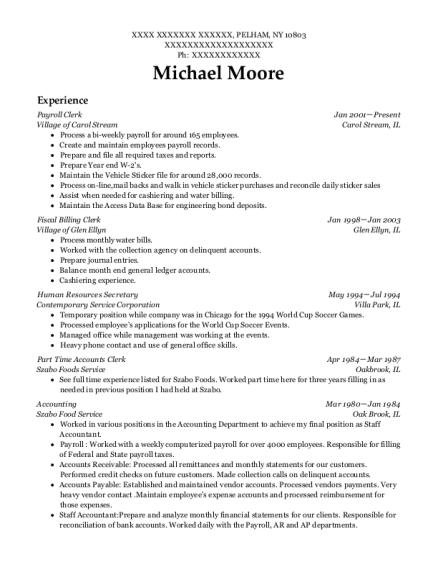 Best Part Time Accounts Clerk Resumes | ResumeHelp