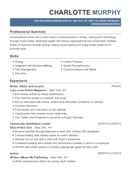 Best Editor And Curator Resumes | ResumeHelp