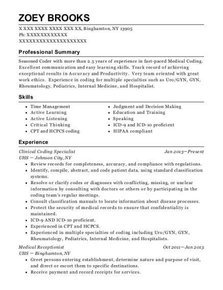 Best Clinical Coding Specialist Resumes | ResumeHelp