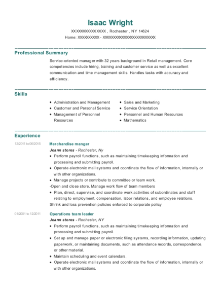 General Manager , Operations Team Leader. Customize Resume · View Resume