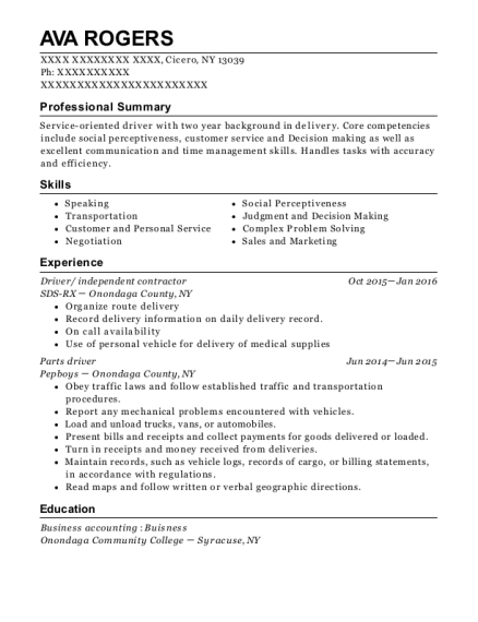 ava rogers - Independent Contractor Resume