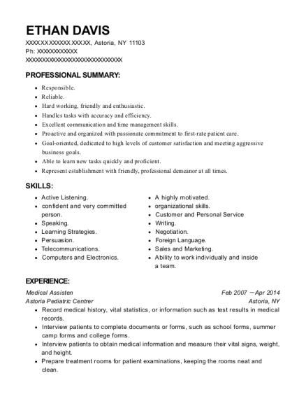 ethan davis - Insurance Advisor Sample Resume