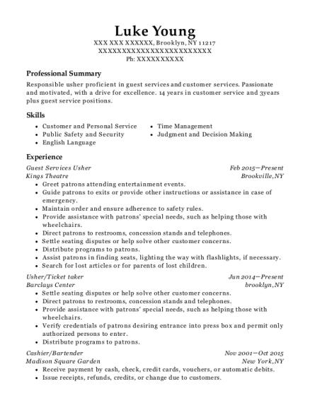 oakland coliseum guest services usher resume sample oakland