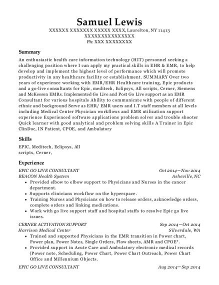 samuel lewis. Resume Example. Resume CV Cover Letter
