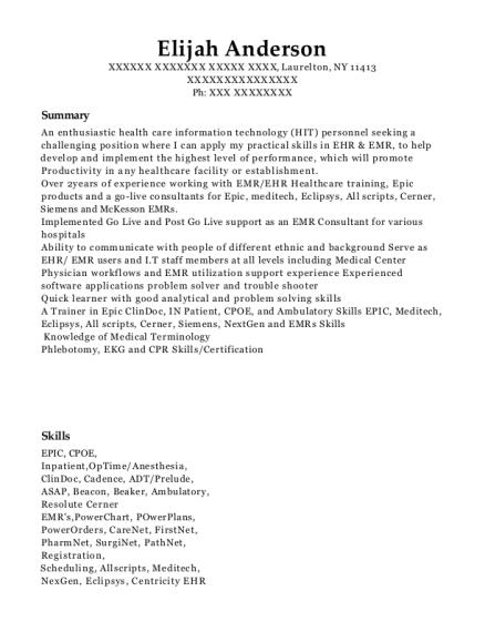 Best Epic Implementation Specialist Resumes | ResumeHelp