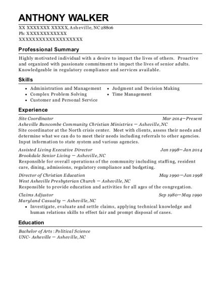 best assisted living executive director resumes resumehelp