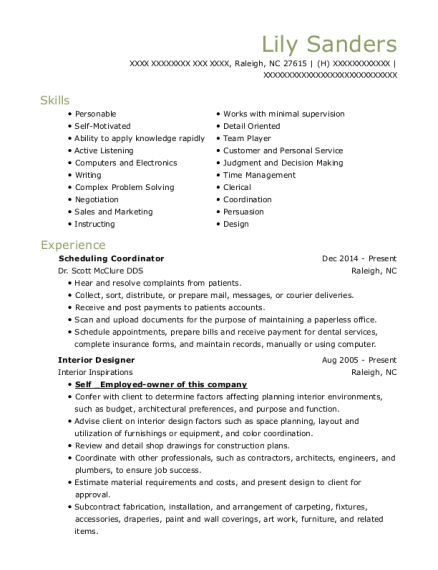 barnes dental surgery center treatment coordinator resume