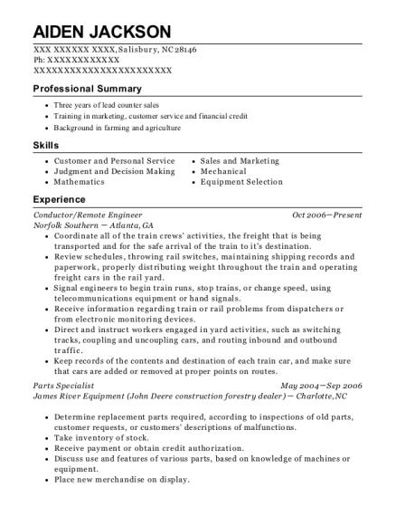 bnsf railway conductor resume sample fresno california resumehelp