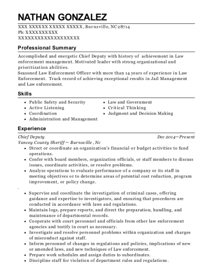 Best deputy sheriffcorporal resumes resumehelp view resume thecheapjerseys Choice Image